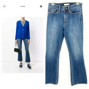Tory Burch Ryan Frayed Flare Jeans 87